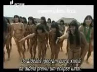 primitive tribe girl women street fight with boy man living in amazon