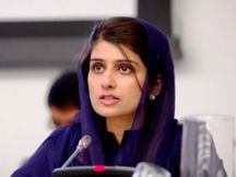 Rabbani Khar once worked as a model for Revlon; not her hands or legs