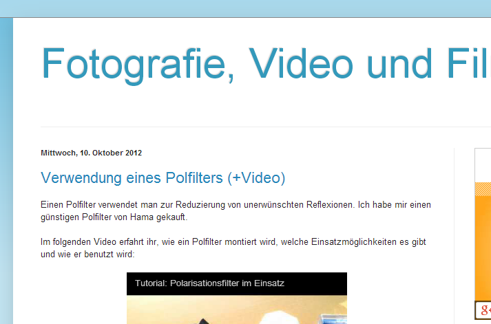 FotoFilmVideo Blogazine