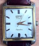 vintage 1960 Camy Sputnik manual winding rectangular shaped watch