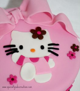 is adorned with a Hello Kitty cut out from white pink and hot pink