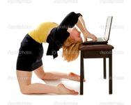 Business Woman Bending Over Backwards — Stock Photo © Lorraine