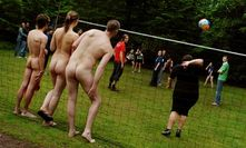 Naked delight  After naturist camping and sports, will clothesfree