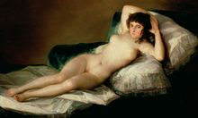 To bare or not to bare . . . The Naked Maja, c.1800. Photograph: Getty