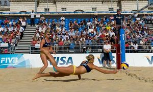 Women's beach volleyball kit reveals very little has changed | Julie