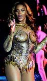 Beyonc� in her crystal bodysuit  Photograph: Kauffman/GoldenEye