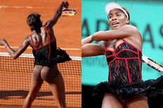 Hot serve: Venus Williams' racy lacey number the talk of France