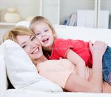 Young mother and her daughter � Stock Photo � Vitaly Valua #3468812