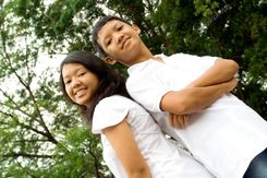 Asian brother and sister — Stock Image © R  Eko Bintoro #3834224