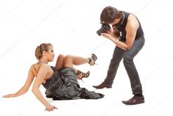 Young adult female model and photographer  — Stock Photo © Igor