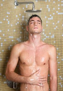 Young handsome sexy nude man in shower | Stock Photo © TONO BALAGUER