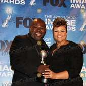 LOS ANGELES - 4: David Mann, .Tamela J. Mann In The Press Room Of The