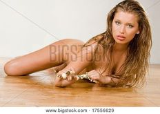 Pretty young naked woman portrait Picture  Royalty Free Stock Photo