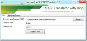 and translate to any language that microsoft translator supports