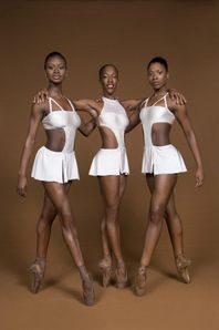 Ballet dancers from the Dance Theater of Harlem performed at the Plaza