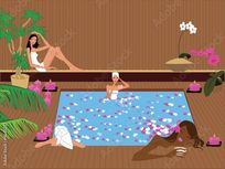 Sauna Party by maddelinemonroe, Royalty free vectors #4640252 on
