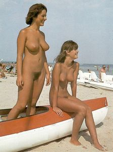 mother and daughter girls at beach (nude - nudist) very sexy nice tits
