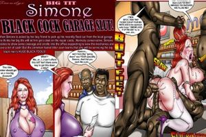 SMUDGE-Simone Black Cock Garage Slut