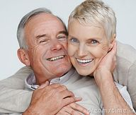 Free Stock Photography: Happy elderly couple enjoying themselves