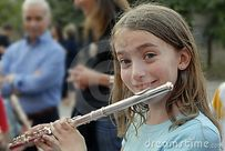 Margie Play The Flute Royalty Free Stock Photos  Image: 11962288