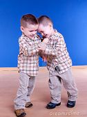 Twins Brother Have Fun Playing Royalty Free Stock Photo  Image