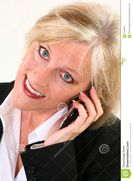 Attractive 40 Something Woman With Cellphone Stock Photography  Image