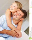 Cheerful Couple In Love Enjoying Themselves Stock Photo  Image