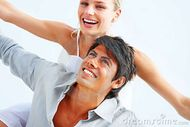 Happy Young Couple Enjoying Themselves Stock Images  Image: 8586414