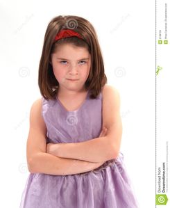 Mad Little Girl Royalty Free Stock Images - Image: 2168759