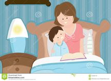 Mother And Son Reading Bedtime Story Royalty Free Stock Photos  Image