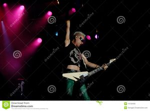 Rudolf Schenker of The Scorpions band perform in Ottawa, Ontario, Aug