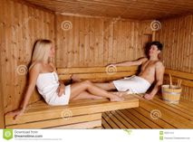 Young Woman In Sauna Royalty Free Stock Photography  Image: 22215617