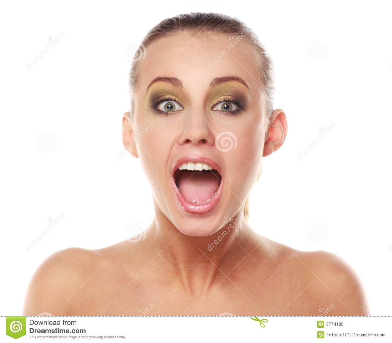 Young Girl Open Mouth
