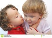 Twins Kiss Royalty Free Stock Photography  Image: 1939867