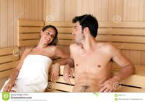 Young Woman In A Sauna Royalty Free Stock Images  Image: 24095899