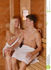 Young Couple In The Sauna Stock Photos  Image: 31433453