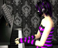My Avatar Sim and Model] Raven Daae [Modest Keyboardist with a Gothic