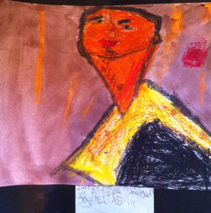 So my 6 year old recently came home with his very own Modigliani