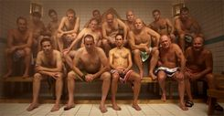 Men in locker room