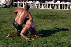 Description 20110911 Oil wrestling Alantepe Rhodope Thrace Greece 2
