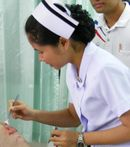 Description Thai nurse in Na Wa Public Hospital jpg