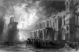 File:Destruction of Elgin Cathedral by Thomas Allom JPG  Wikipedia