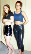 description dana and jassi in latex shorts and leggings 4623 jpg