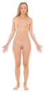 Description Anterior view of human female, retouched  transparent png