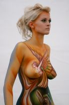 Description Female body painting jpg