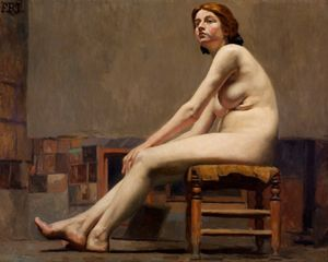 Dario Villares Barbosa - Study of Female Nude - Google Art Project jpg