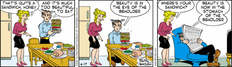 Dagwood has created a typical Dagwood sandwich in this April 17, 2007
