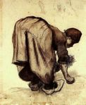 Peasant Woman Bending Over  Vincent van Gogh  WikiPaintings org