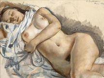 Sleeping nude  Zinaida Serebriakova  WikiPaintings org