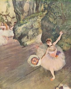 of flowers (The Star of the ballet) - Edgar Degas - WikiPaintings org